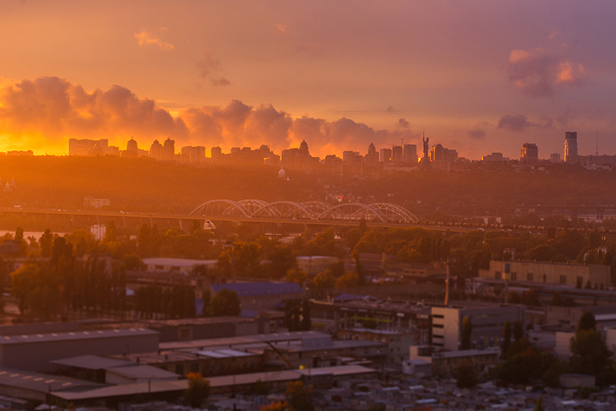 панорама Киева. Фотограф Алена Бут
