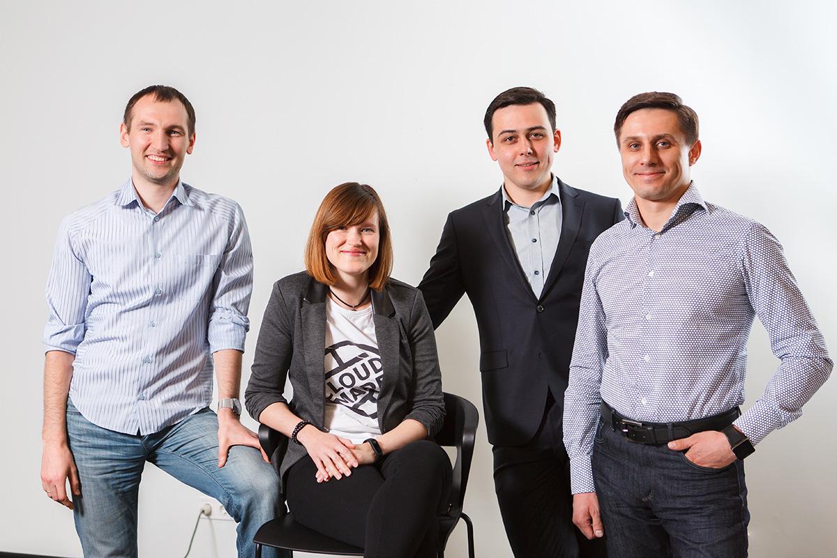 групповой портрет коллектива для CloudMade